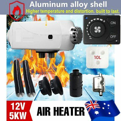 12V 5KW Diesel Air Heater Aluminum Alloy 2 x Duct,2 x Vent Knob Switch Control K