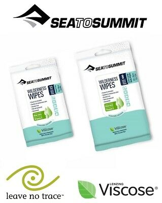 Sea To Summit Wilderness Wipes Travel Pack Unscented Clensing Wipes Compostable