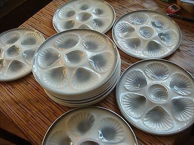 14 Assiettes A Huitres Faience Moulin Des Loups Orchies