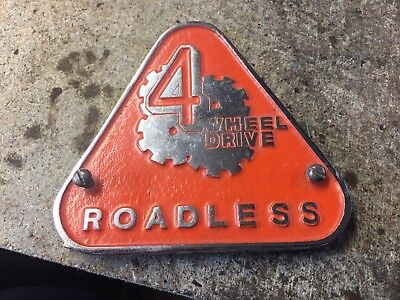 NOS Roadless 4 Wheel Drive Badge Fordson Ford Tractor