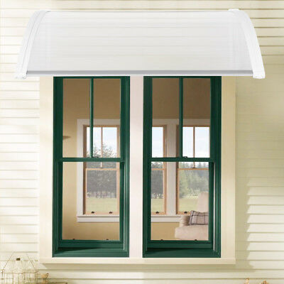 Front Back Door Canopy Porch Awning Lean Roof Rain Cover Protector Shelter White & FRONT BACK DOOR Canopy Porch Awning Lean Roof Rain Cover Protector ...