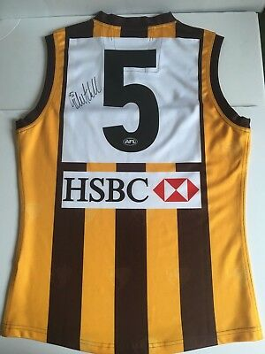 2012 hawthorn hawks signed Sam Mitchell official Guernsey #5 football, footy