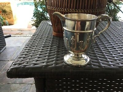 Antique Heavy Sterling Silver Ecclesiastical Baptising Jug 1907