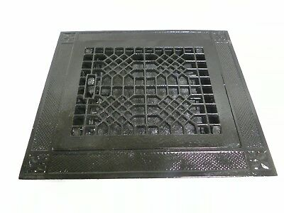 Vtg Antique Tuttle & Bailey Decorative Cast Iron Floor Heat Grate Register (A25)