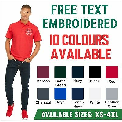 Custom Embroidered Polo Shirt Uneek UC124 Personalised With Text Work Wear Staff