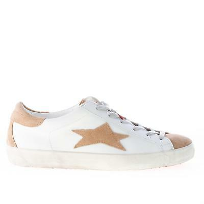 ISHIKAWA chaussures homme shoes Low 1022 white leather sneaker with beige  suede 7e74f0d1f93