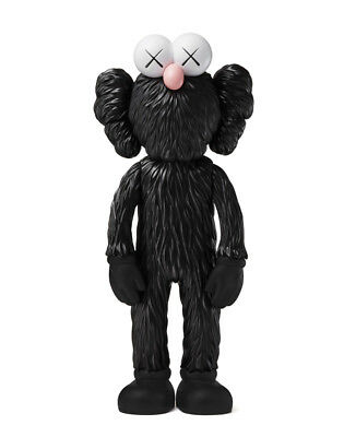 KAWS - BFF (Black) - Vinyl sculpture Open edition Unopened box | Sold out Moma