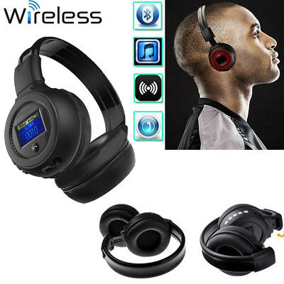 Bluetooth Wireless Stereo Headset/Headphones With Call Mic Support SD TF FM MP3