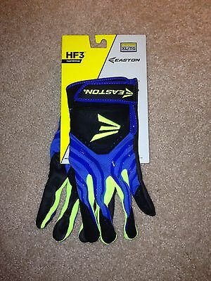 New Easton XL Women's HF3 Fastpitch Blue Softball Batting Gloves Baseball Black
