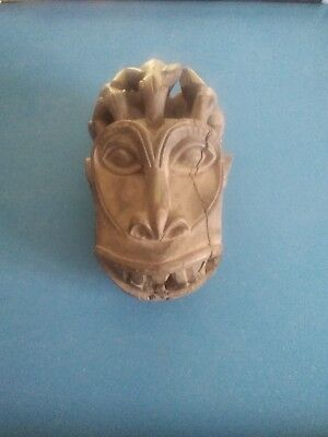 Grassland, hard wooden Mask , Cameroun with  3 animals on top.