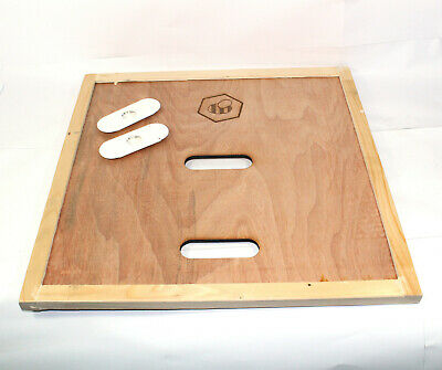 Beekeeping British National Bee Hive Crown Board with Porter Bee Escapes