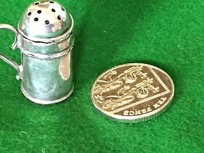Miniature Sterling Silver Hallmarked Salt Or Pepper Shaker For Dolls House?
