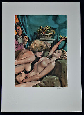 Erotik Lesben ha Spion Nude Sexy fine art Litho Collection Erotic Drawing Signed