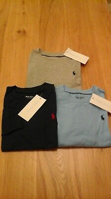 POLO RALPH LAUREN BABY BOY COTTON TEES - LONG SLEEVED  ages 12-24 months BNWT