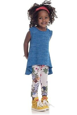 NWT Persnickety high end blue shirt tunic long back girl 2T 3T 6