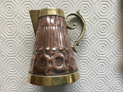 Old Pub Gill Ornate 9cm tall Copper and Brass Drink Jug Measure