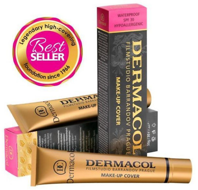 """Dermacol MAKE-UP COVER """"Authentic"""" HIGH COVER Make-Up FOUNDATION CONCEALER 30g"""