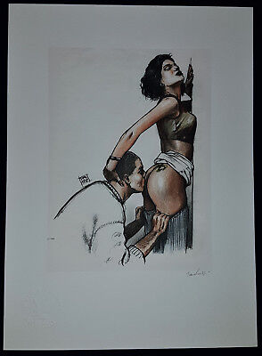 Erotik Zeichnung PinUp Nude Sexy fine art Litho Collection Erotic Drawing Signed