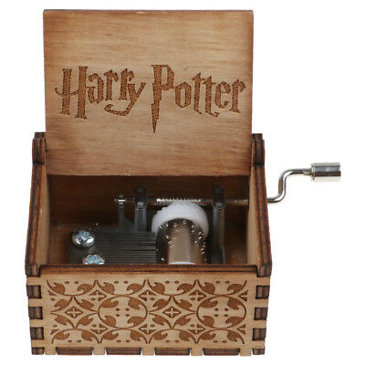 Mini Harry Potter Wooden Hand Engraved Music Box Fun Interesting Toys Kids Gifts