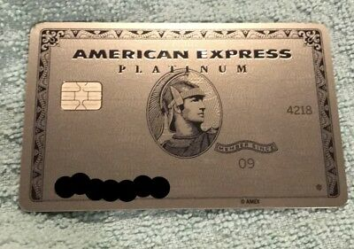 Rare Authentic American Express Platinum Card New Expired Metal Free Shipping