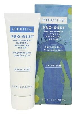 Emerita Pro-Gest Original Natural Progesterone Cream Fragrance-Free, 4 Ounces