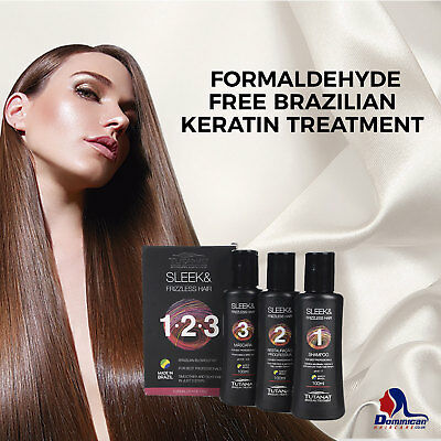 Brazilian Keratin Treatment Kit - No Formaldehyde - 3x100ml shampoo mask keratin