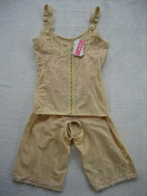 NWT SHENGBAINA Beige Full Body Post Surgical Compression Garment - Size XL