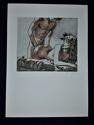 Erotik Nude  Zeichnung Sexy fine art Litho Collection Up Erotic Drawing Signed