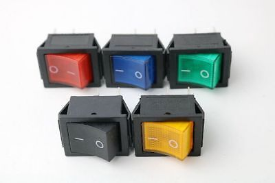 Latching Rocker Switch I/O 4 Pins With LED Light Color 16A 250VAC 20A 125VAC