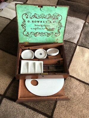 Antique Watercolour Box By G. Rowney & Co