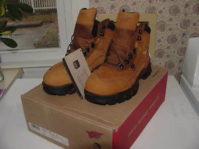 Red Wing 2691 Women Safety Boot Leather Waterproof Steel Toe Thinsulate 7 1/2 D