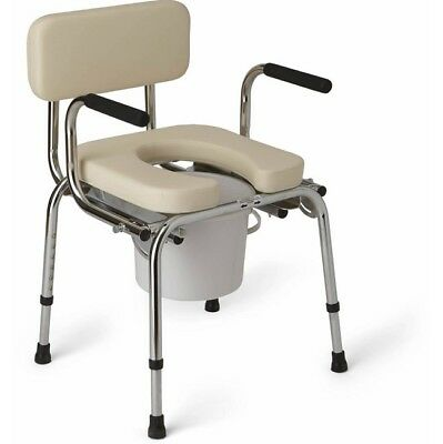 Bedside Commode Chair Commodes Chairs Adults Padded Medical Seat Drop Arm Toilet