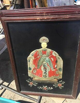 Large Beautiful China Chinese Jade and Stone Artwork of a Lady Unknown Year