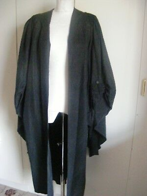 Vintage silk court gown legal Judge Solicitor button sleeve Ede Ravenscroft XL