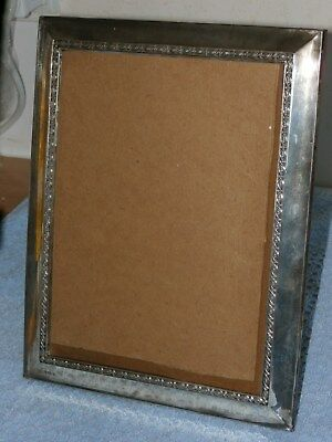 Hallmarked Birmingham Silver 1917 or 1942 Large Free Standing Photo Frame