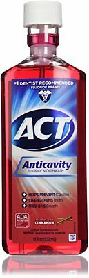 ACT Anticavity Fluoride Rinse, Cinnamon, 18 oz (5 Pack)