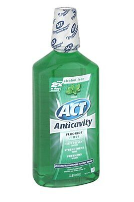 ACT Anticavity Rinse, Mint, 33.8 oz (4 Pack)
