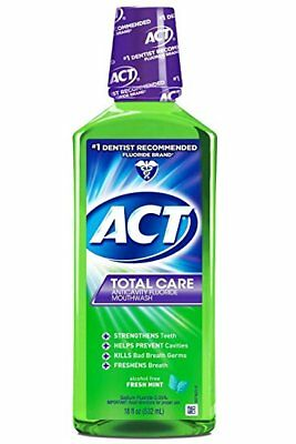 ACT Total Care Anticavity Rinse, Fresh Mint, 18 oz (6 Pack)