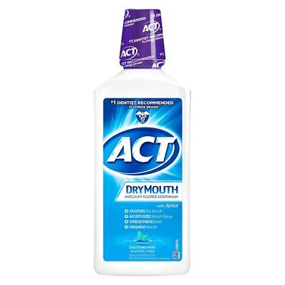 ACT DryMouth Anticavity Rinse, Soothing Mint, 33.8 oz (7 Pack)