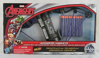 Marvel Avengers Nerf Avenger's Hawkeye Longshot Bow, Hasbro, New in Box