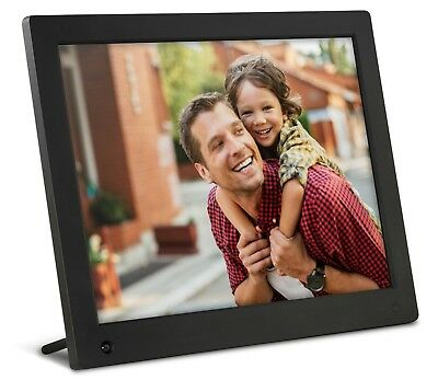 Large 15 Inch HD Digital Photo Frames Family Picture & Clock  Display