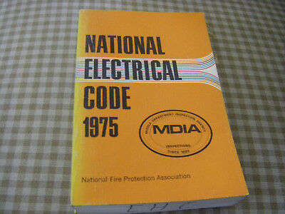 Nfpa 70 1975 Nec National Electrical Code Trade Paperback Book Used Plz Read