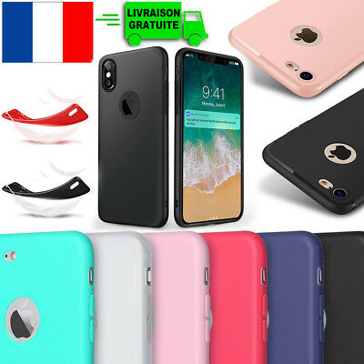 iPhone X 6 7 8 PLUS SE 5S XR XS Max Coque TPU Ultra Slim Anti Choc Housse Etui