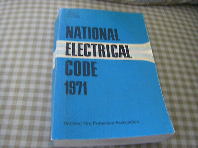 Nfpa 70 1971 Nec National Electrical Code Trade Paperback Book Used Plz Read