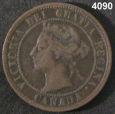 1898 H Canada Large Cent Xf Key Date #4090