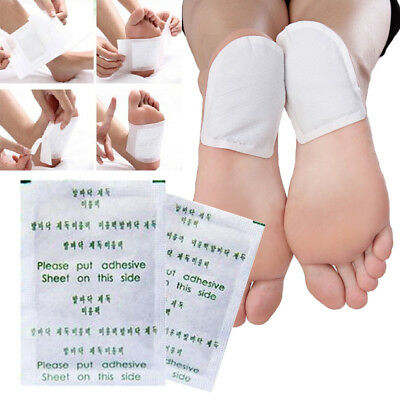 10x Cleansing Detox Foot Pads Patch Herbal Detoxify Toxins Adhesive Health Care