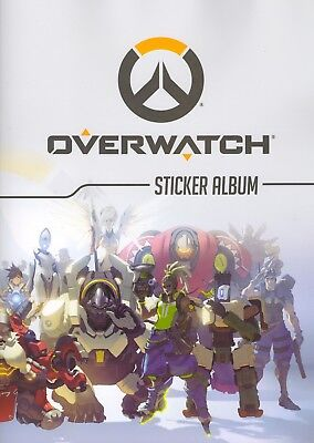 JUST TOYS - OVERWATCH Sticker collection FULL SET of 288 stickers plus album