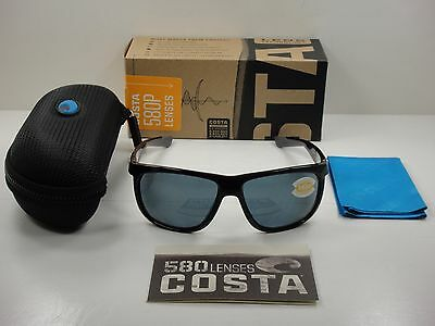 d678e47709 Costa Del Mar Kiwa Polarized Kwa11 Ogp Sunglasses Black Frame Gray 580P Lens