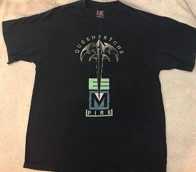 Vintage Queensryche Empire 1991 Building Empires World Tour Concert Shirt Xl