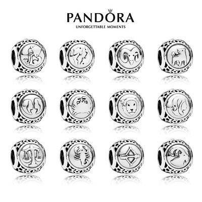 Genuine Pandora Zodiac STAR SIGN Silver Charm All 12 Horoscope